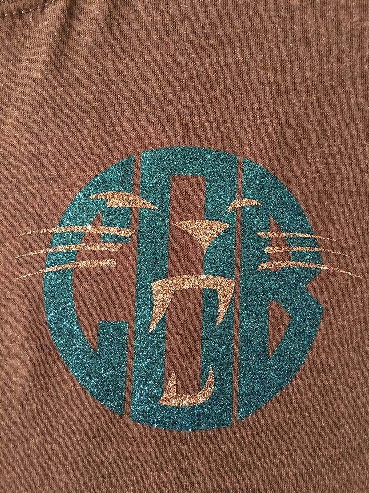 Personalized Carolina Panthers shirt, monogram, glitter vinyl heat transfer, Panther nation, keep pounding, dabb, Cam Newton, TOUCHDOWN