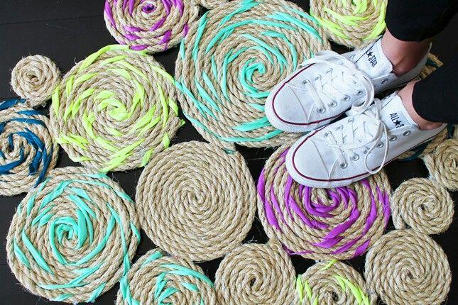 Diy cool rope rug