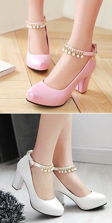 Such a lovely ankle trap with chunky heels! What color would you wear? Click to get yours!
