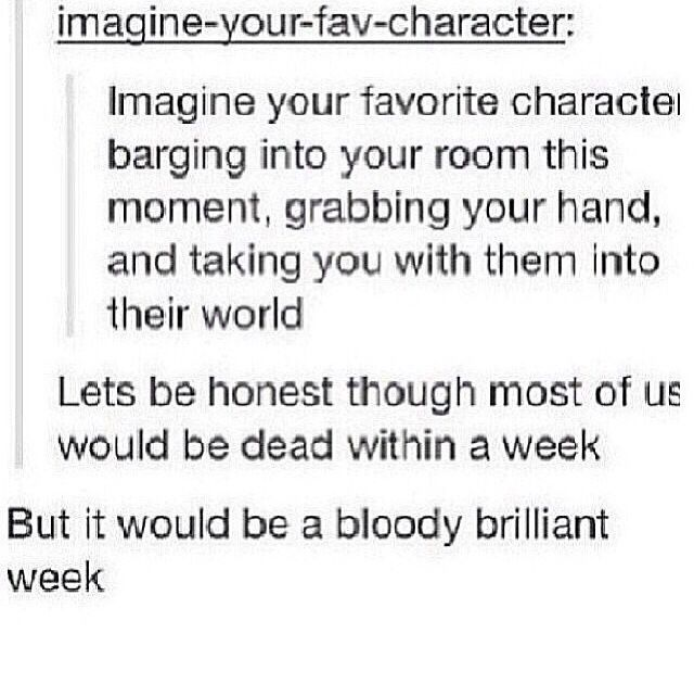 Doctor, Dean, Sherlock, Spider Man, Bucky Barnes, etc.