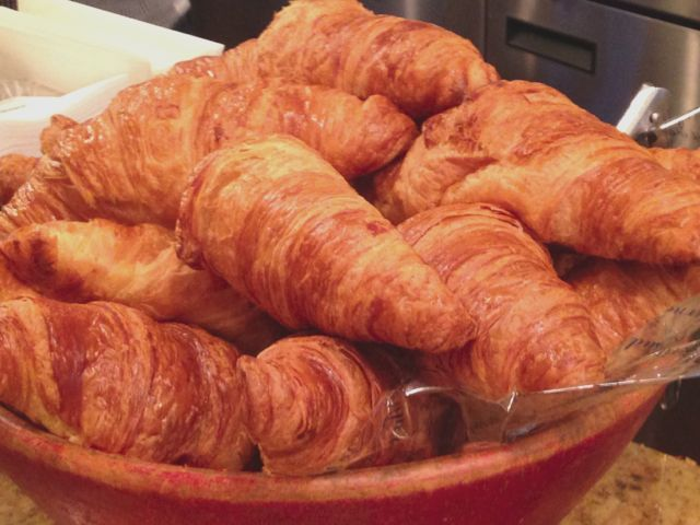 Hand made croissant at Vasco de Gama in #Montreal