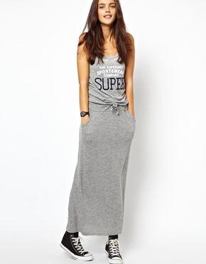 Grey vest maxi dress