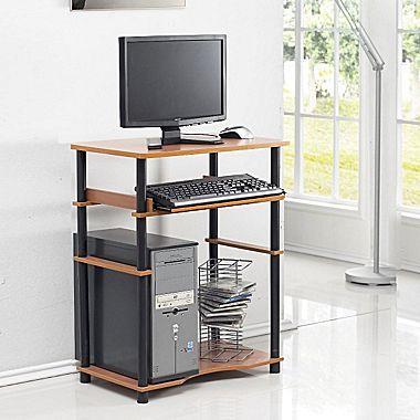 Furinno Compact Home Computer Desk, Cherry/Black (10016LC/BK)