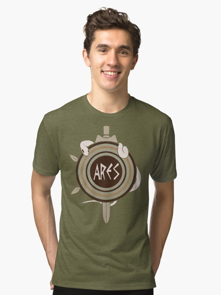Ares, Greek God of War, Tri-blend T-Shirts by AnMGoug on Redbubble. #mythology #snake #sword #retro #tshirt