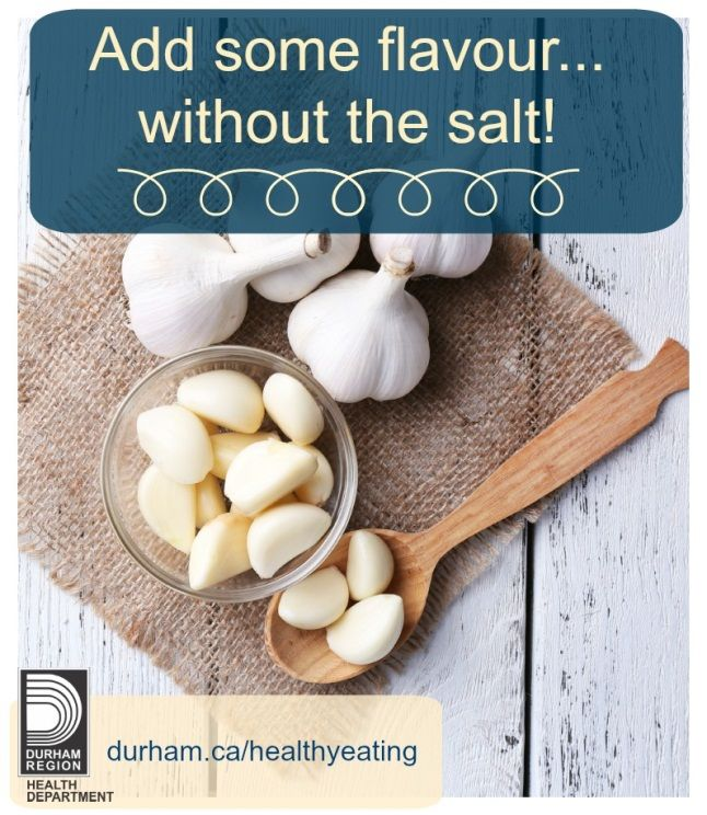 Looking for ways to #spice up your meal without using salt? Try some fresh in-season garlic to add flavour! #nutrition