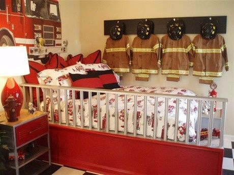 Have a future firefighter in the family? This room is sure to thrill. The Southill by Ryland Homes in the Cobblestone community in Greenwood, IN.. Check out that cool T-Shirt here: https://www.sunfrog.com/I-love-my-firefighter-Black-Ladies.html?53507