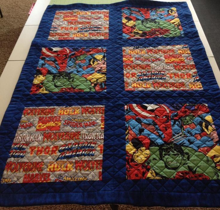 Marvel Baby Quilt project on Craftsy.com | Quilting ...