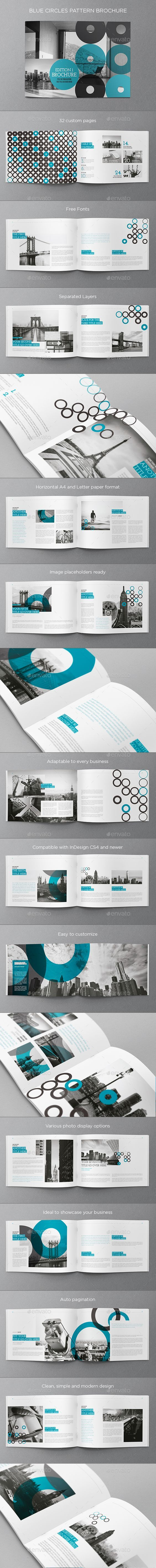 Blue Circles Pattern Brochure Template InDesign INDD #design Download: http://graphicriver.net/item/blue-circles-pattern-brochure/14060572?ref=ksioks: