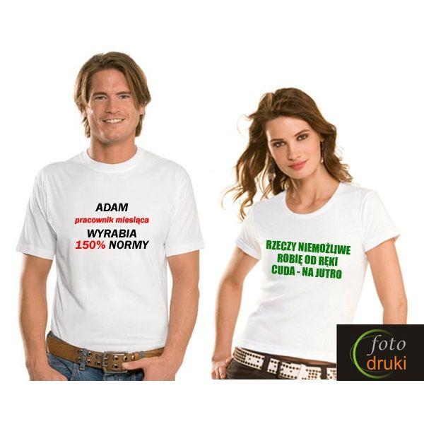 Koszulki z nadrukiem, np. logo firmy