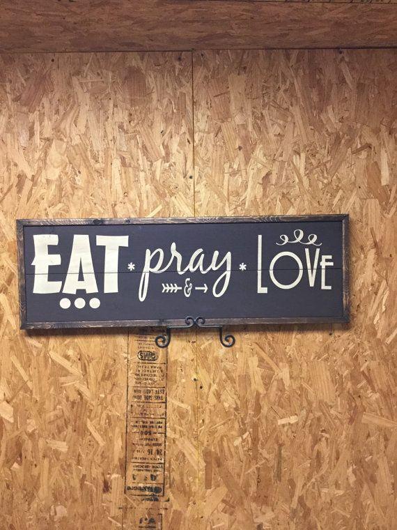 Comer rezar amar signo por wildscreek en Etsy
