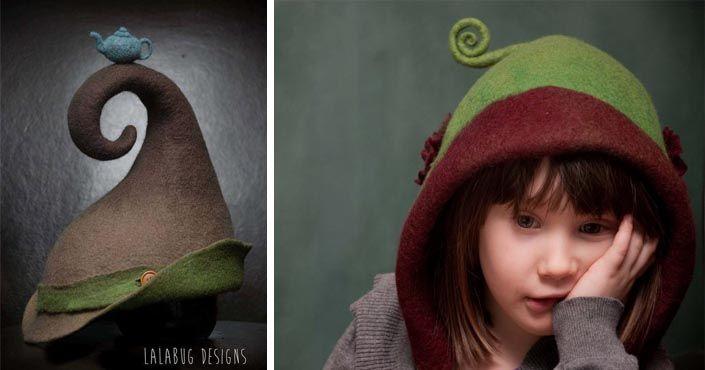 Šikovná Lena Hood Lundrie vyrába handmade klobúky a čiapky z plste pre malých aj veľkých škriatkov či lesné víly známe pod značkou Lalabug. Plstené