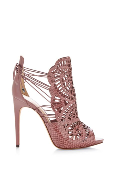 Cut-Out Python Sandals by Alexandre Birman
