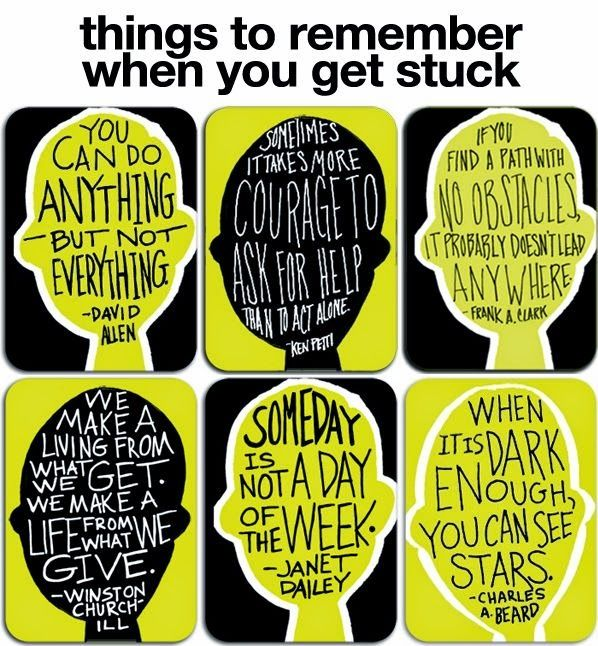Things To Remember When You Get Stuck