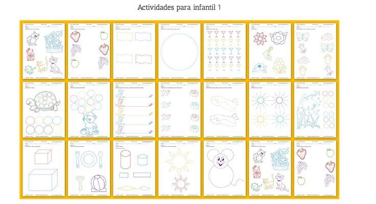 Cuadernillo preescolar 1 de pre-escritura para niños entre 3, 4 y 5 años, para obtener un desarrollo óptimo en las destrezas de motricidad fina