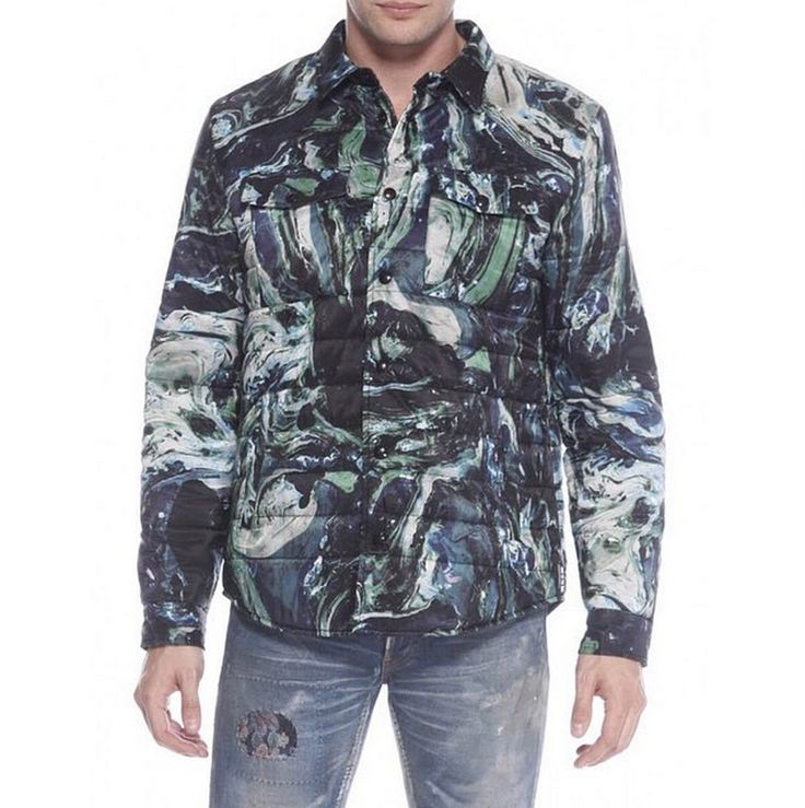 Marble design print nylon jacket from MSGM - get yours for the holidays
