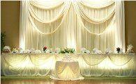 head table wedding decoration
