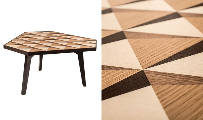 Lamellux marquetry table. Exhibited at #DowntownDesign in #Dubai #UAE. #InteriorDesign
