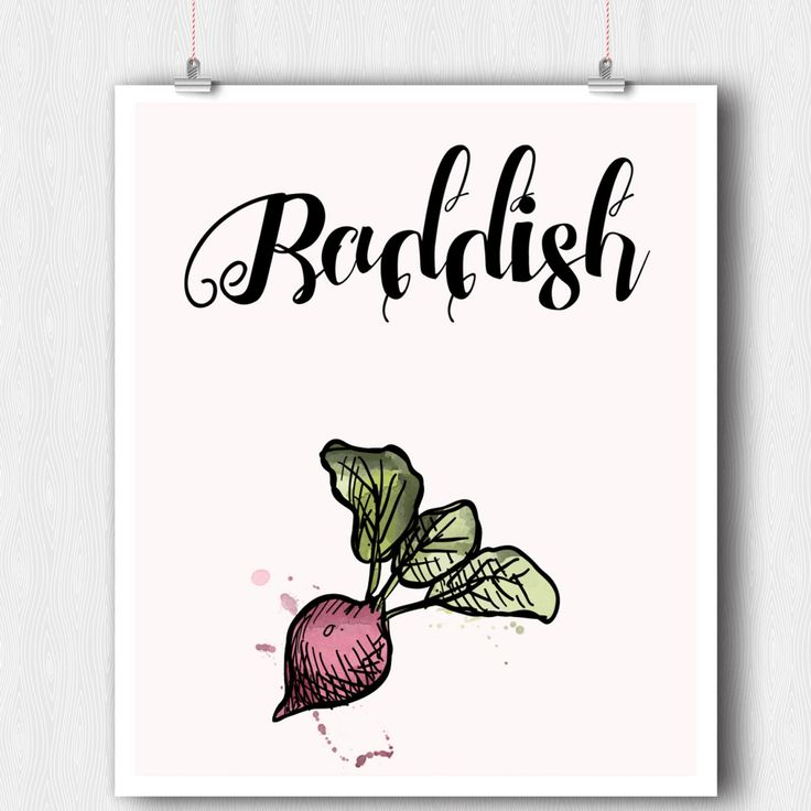 Digital Kitchen Print - Vegetable Print - Radish Watercolor Print - Raddish Printable Wall Art - Minimalist Art - Wall Art- Digital Download by ratitaprints on Etsy