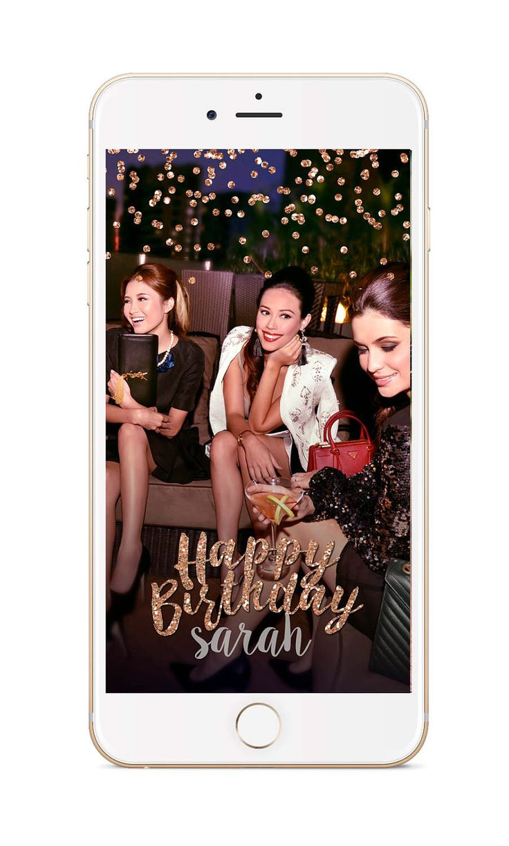 Snapchat Filter Birthday, Snapchat Geofilter, Birthday Geofilter, Snapchat Birthday, Snap Filter, Birthday Filter, ROSE gold filter, glitter by Bridesilla on Etsy https://www.etsy.com/listing/472719820/snapchat-filter-birthday-snapchat