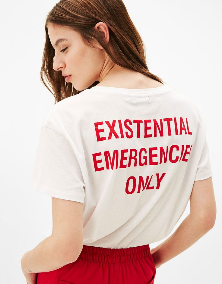 "T-shirt estampada ""Motel / Missed Call"" - null - Bershka Portugal"