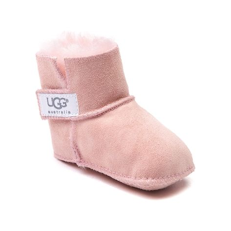 She'll be precious in pink this season with the new Erin Bootie from UGG! The UGG&#174 Erin features a soft sheepskin upper with an adjustable hook and loop side closure, fuzzy fleece lining to keep her little toes warm, and a soft suede outsole for comfort. Available only online at JourneysKidz.com! Available for shipment in September; Pre-order yours today!