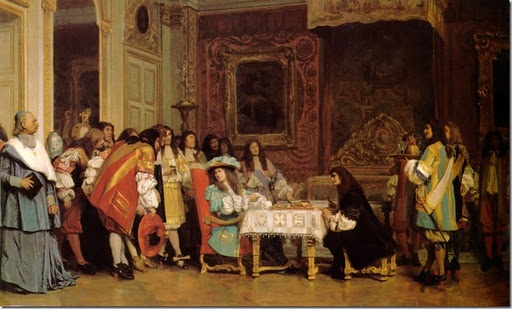Louis XIV with Moliere