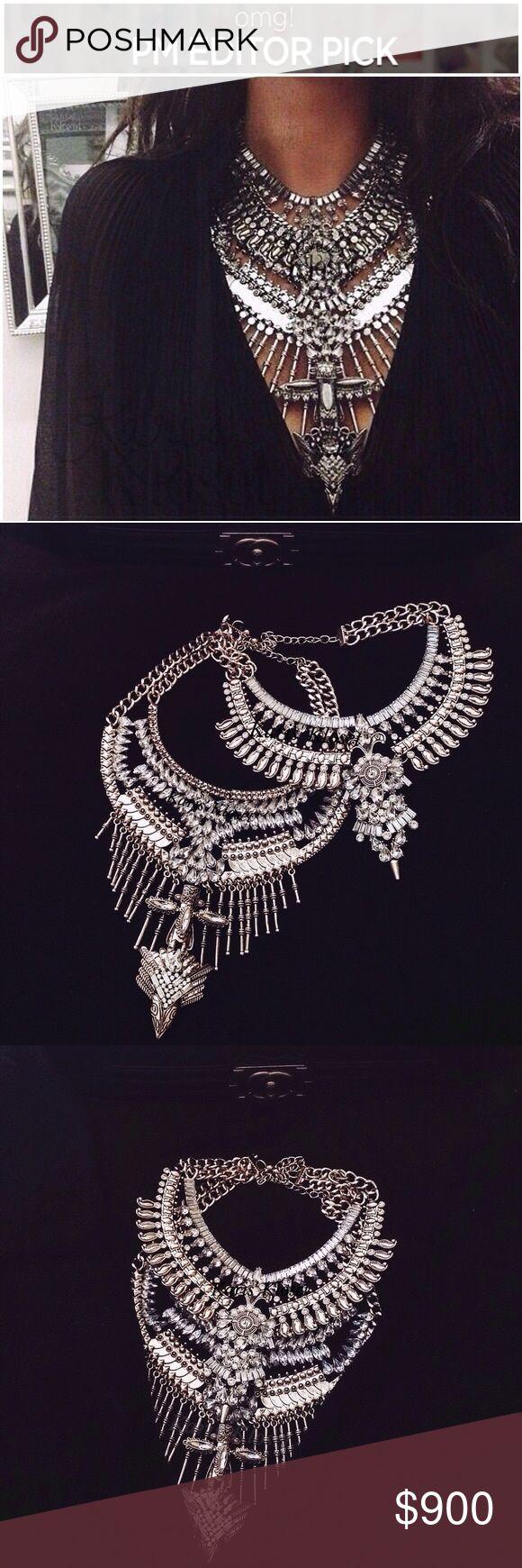 Spotted while shopping on Poshmark: Jewelry | Night's Edge Silver Statement necklace! #poshmark #fashion #shopping #style #Karis' Kloset #Jewelry