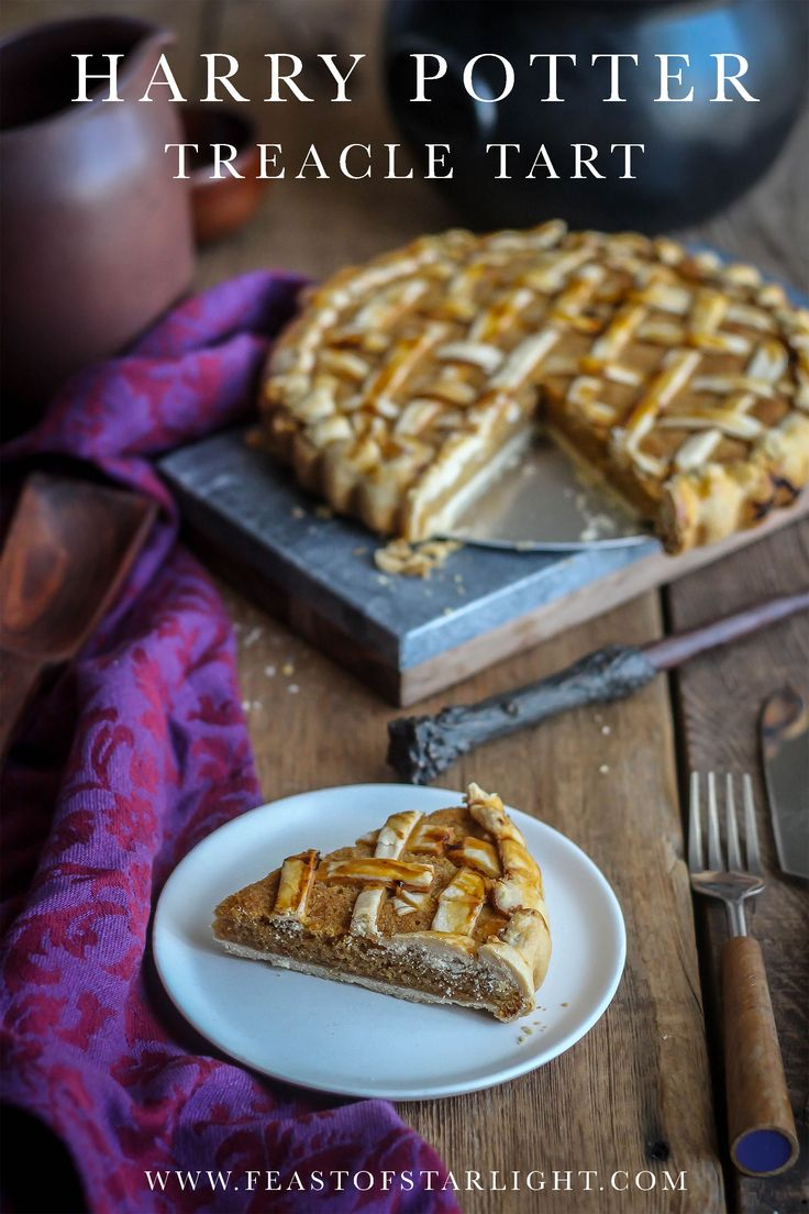 A recipe for treacle tart inspired from the books and movies of Harry Potter