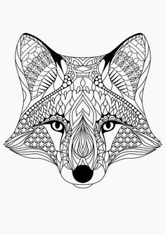 fox coloring pages - Google Search: