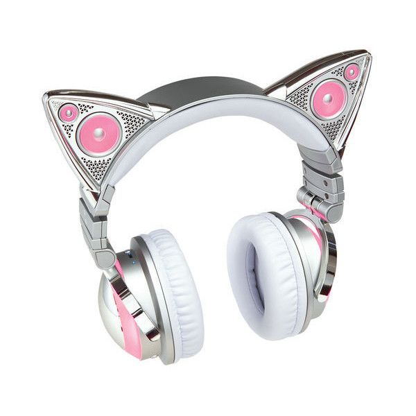 Limited Edition Ariana Grande Wireless Bluetooth Cat Ear Headphones (475 BRL) ❤ liked on Polyvore featuring headphones and hats