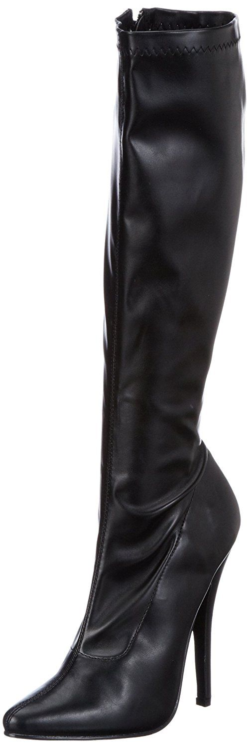 Pleaser Women's Domina-2000/B/PU Knee-High Boot -- Learn more by visiting the image link.