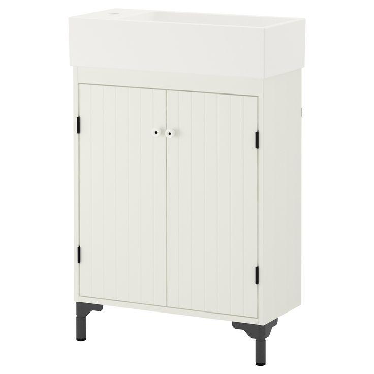 SILVERÅN/LILLÅNGEN Sink cabinet with 2 doors - IKEA