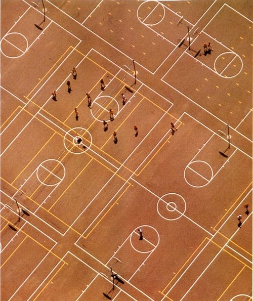 Ball Players by Georg Gerster, Santa Barbara, 1974