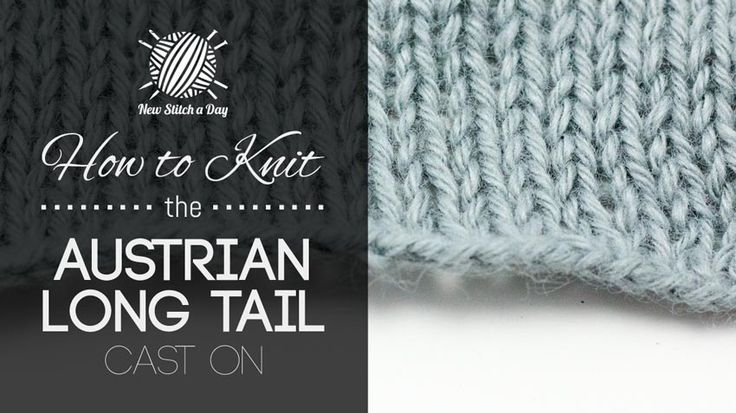 Knitting Long Tail Cast On Circular : Best knit stitch dictionary images on pinterest