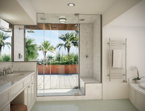 Urban Gardens and Mr. Steam Show How to Create an Indoor-Outdoor Spa Sanctuary With Outdoor Shower | Urban Gardens