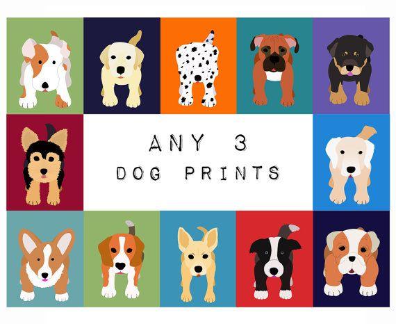 Hey, diesen tollen Etsy-Artikel fand ich bei https://www.etsy.com/de/listing/78659966/dog-prints-dog-nursery-art-prints-set-of