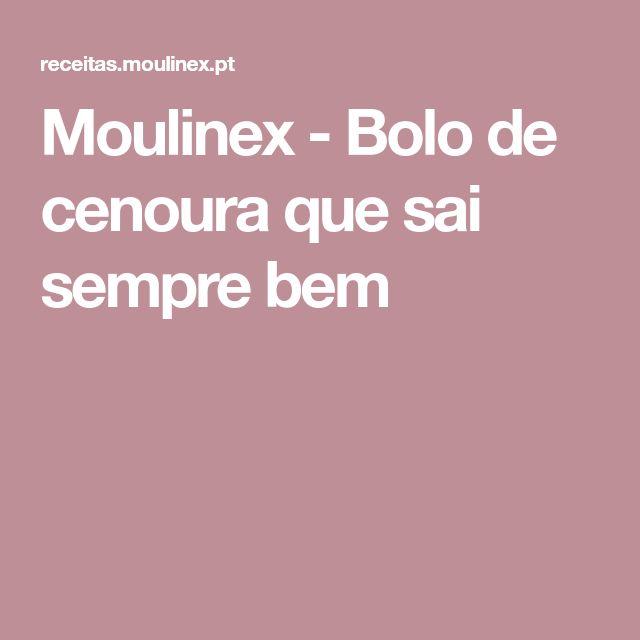 Moulinex - Bolo de cenoura que sai sempre bem