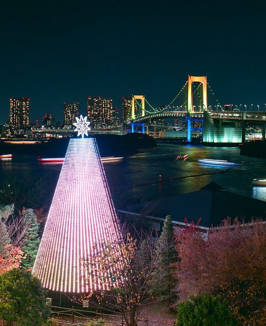 Christmas in Tokyo, Japan . I wish to go to japan during Christmas, it looks so peaceful