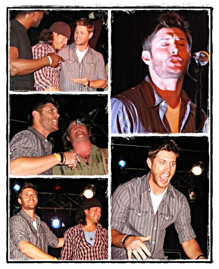 Jensen Singing. I'd have killed to be there. it was Chris ...