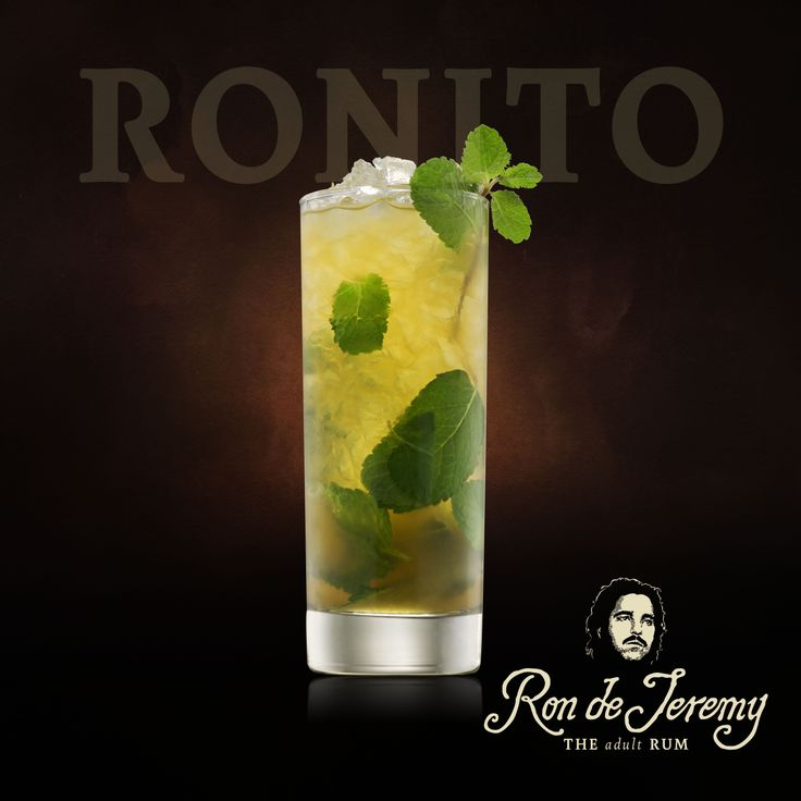 RONITO  2 oz - Ron de Jeremy Rum - 10 fresh Hierba Buena/Mint leaves - 1/2 Lime, - cut into 4 wedges - 2 tbsp Sugar, - Top up Club Soda. - Place Mint leaves, Sugar and 3 Lime wedges into a glass and muddle together. - Fill the glass with crushed ice. - Add the rum and club soda and stir gently. - Garnish with a sprig of mint. . . . . . . . #rondejeremy #cocktails #bartenders #contest #event #tasty #rum #rumwithatwist #theoriginaladultrum #ronjeremyrum #mixology #mixing #creative #tasty