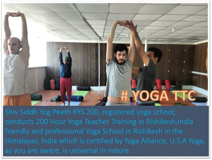 #yoga_teacher_training_in_rishikesh_india #yoga_ttc_in_india #registered_yoga_ttc_in_india Shiv Siddh Yog Peeth RYS 200, #registered_yoga_school, conducts #200_Hour_Yoga_Teacher_Training_in_Rishikesh,India friendly and #professional #Yoga_School_in_Rishikesh in the Himalayas, India which is certified by #Yoga Alliance, U.S.A #Yoga, as you are aware, is universal in nature. Its benefits are immense. It gives you a threefold benefit at the body, mind, and spiritual level.