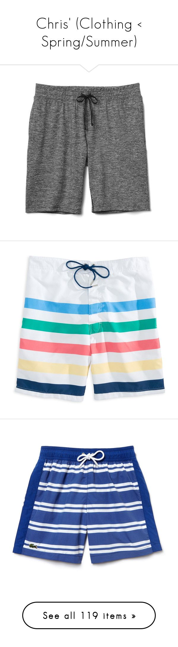 """""""Chris' (Clothing < Spring/Summer)"""" by babybutter-stories ❤ liked on Polyvore featuring brooksfamily, men's fashion, men's clothing, men's activewear, men's activewear shorts, black heather, regular, mens activewear shorts, mens activewear and stripe"""