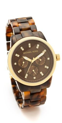 OMG I really want this Michael Kors Tortoise Sport Watch -- only $225, gotta start saving