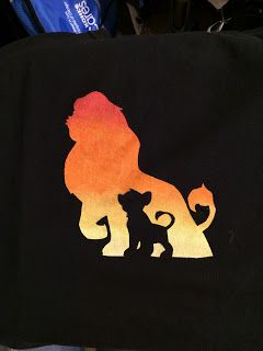 DIY Disney Lion King shirt made with freezer paper stencils