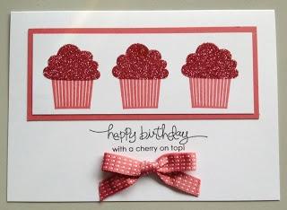 Cupcake Birthday Card by Alison Douglas,SU Demo in Narre Warren