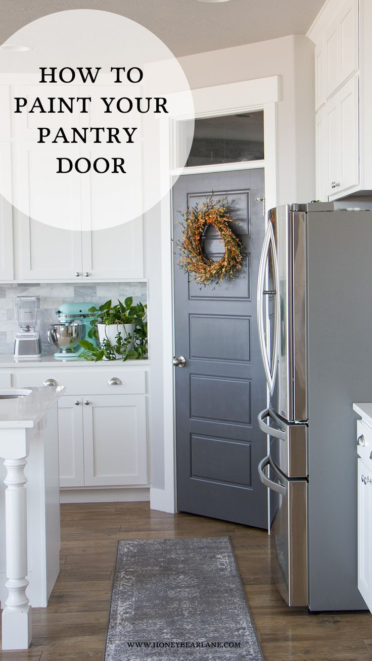 You can transform the look of your kitchen easily by painting your pantry door! Its a quick and inexpensive project anyone can do! @frogtape #frogtape #2017designtrends #ad