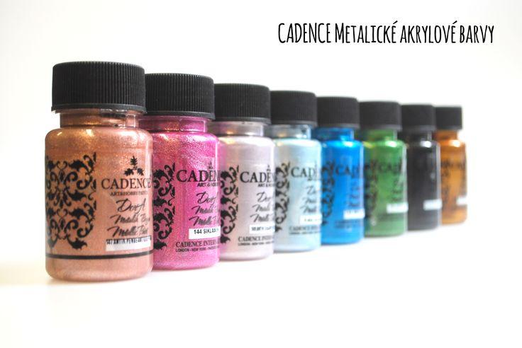 Cadence metalické akrylové barvy určené pro různé techniky či Home Decor.