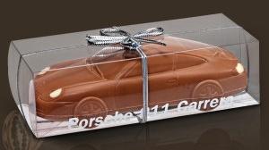 Czekoladowy samochód! Śmieszny prezent dla dziewczyny z okazji zdania egzaminu na prawo jazdy!