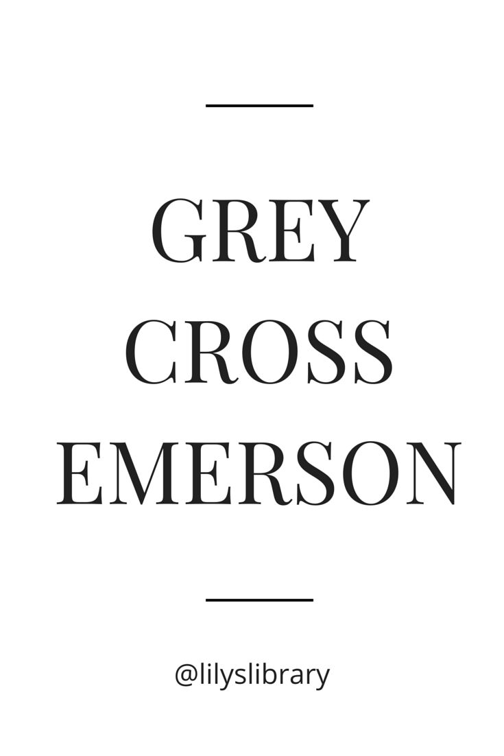 Grey - Cross - Emerson @lilyslibrary #bookboyfriends my TOP THREE who's yours?