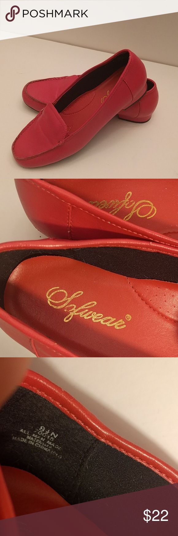 Vintage red loafers Man made materials. 8.5 sofwear Shoes Flats & Loafers